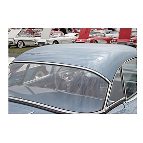 56-60 HARDTOP REAR WINDOW (PLAIN)
