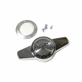 56-62 CHROME HUBCAP SPINNER W/ HARDWARE