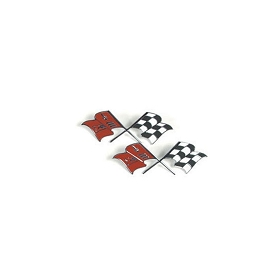 57-60 FRONT FENDER CROSSED FLAGS EMBLEM (EACH)