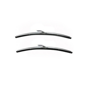 63-67 WIPER BLADES - POLISHED STAINLESS STEEL (PAIR)