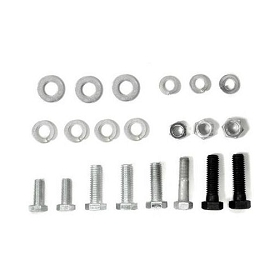 64-76 AC COMP MOUNT BRACKET BOLT KIT 327/350