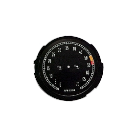 65-67 TACHOMETER FACE - LOWER HP