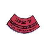 67-68 AIR CLEANER DECAL - 327 W/ 300 HP