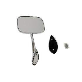 68-74 MIRROR LH DOOR w/  HARDWARE SMALL HEAD
