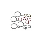 68E HOSE CLAMP KIT 327 - W/ ALUMINUM RADIATOR (300 HP 4SPD W/O AC) (12 PC)