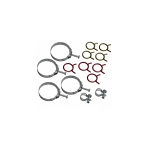 68E HOSE CLAMP KIT 327 - W/ ALUMINUM RADIATOR (300 HP 4SPD W/ AC) (14 PC)