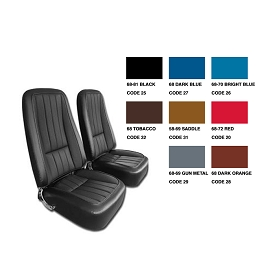 68 Leather Seat Covers Set Reproduction