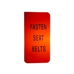 72-76 SEAT BELT WARNING LENS