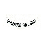 75-77 FUEL WARNING BLACK DECAL