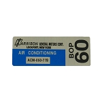77 AIR CONDITIONING FOIL PLATE DECAL