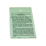 77 CRUISE CONTROL INSTRUCTIONS DECAL