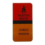 80-82 FASTEN BELT/CHECK ENGINE LENS