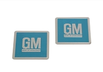 67 GM MARK OF EXCELLENCE DOOR FOIL DECALS (PAIR)