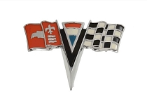 63-64 NOSE EMBLEM CROSSFLAGS