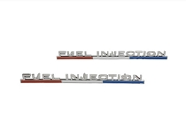 63-64 FRONT FENDER EMBLEM 'FUEL INJECTION' (PAIR)