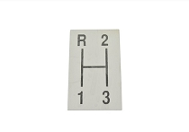 64-67 3 SPEED SHIFT INDICATOR PLATE