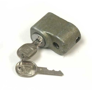 63-82 SPARE TIRE LOCK & KEY SET (1969 UP KEY TYPE)