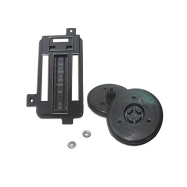 69-71 HEATER/AC CONTROL REFACE KIT w/ AC