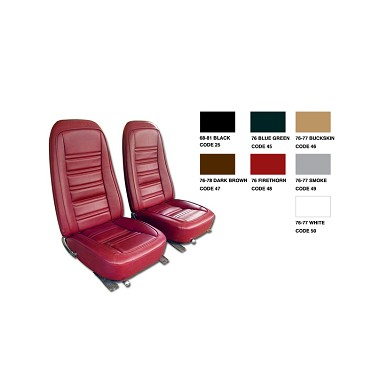 76 Vinyl Seat Covers Set Reproduction